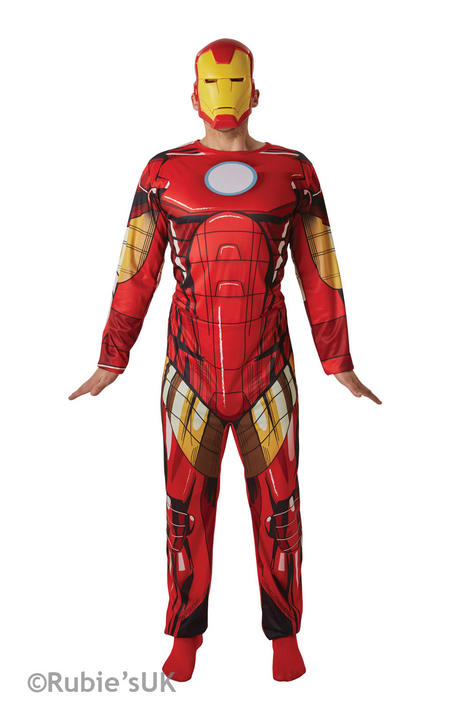Men's Classic Iron Man Fancy Dress Costume Thumbnail 1