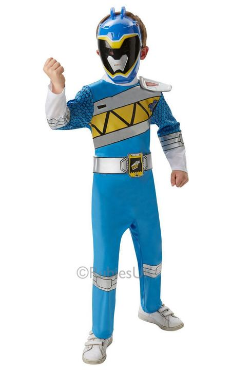 Boy's Dino Charge Blue Ranger Deluxe Fancy Dress Costume Thumbnail 1