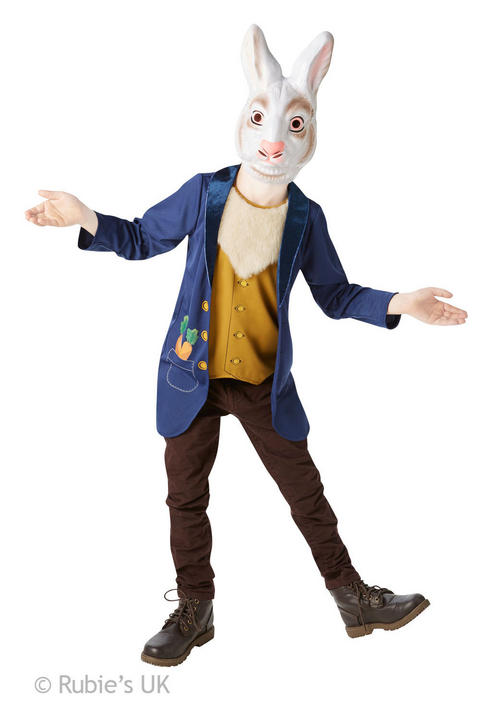 Boys Book Week Mr Rabbit Costume Kids Fancy Dress Outfit Thumbnail 1