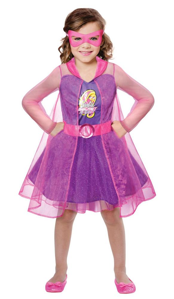 Girls Barbie Spy Squad Girls Fancy Dress Costume