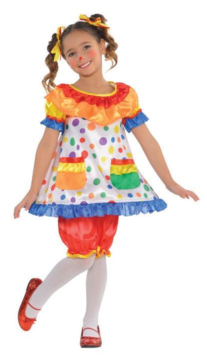 Girl's Clown Fancy Dress Costume Thumbnail 1