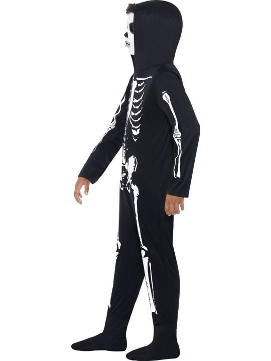 Childs All in One Skeleton Costume Thumbnail 3
