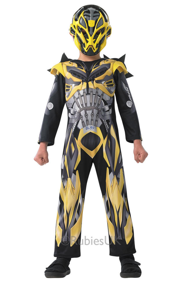 SALE! Kids Licensed Transformers Bumble Bee Boys Fancy Dress Costume Outfit