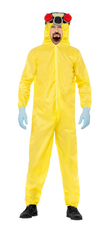 Licensed Official Breaking Bad Hazmat Suit Mens Halloween Fancy Dress Costume