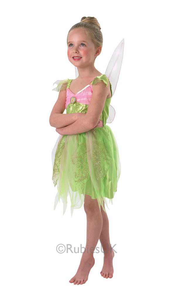 Child Disney Light Up Tinkerbell Fairy Girls Book Week Fancy Dress Kids Costume