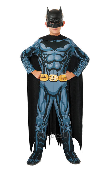 SALE! Childrens Comic Book Superhero Batman Boys Fancy Dress Kids Costume Outfit Thumbnail 1