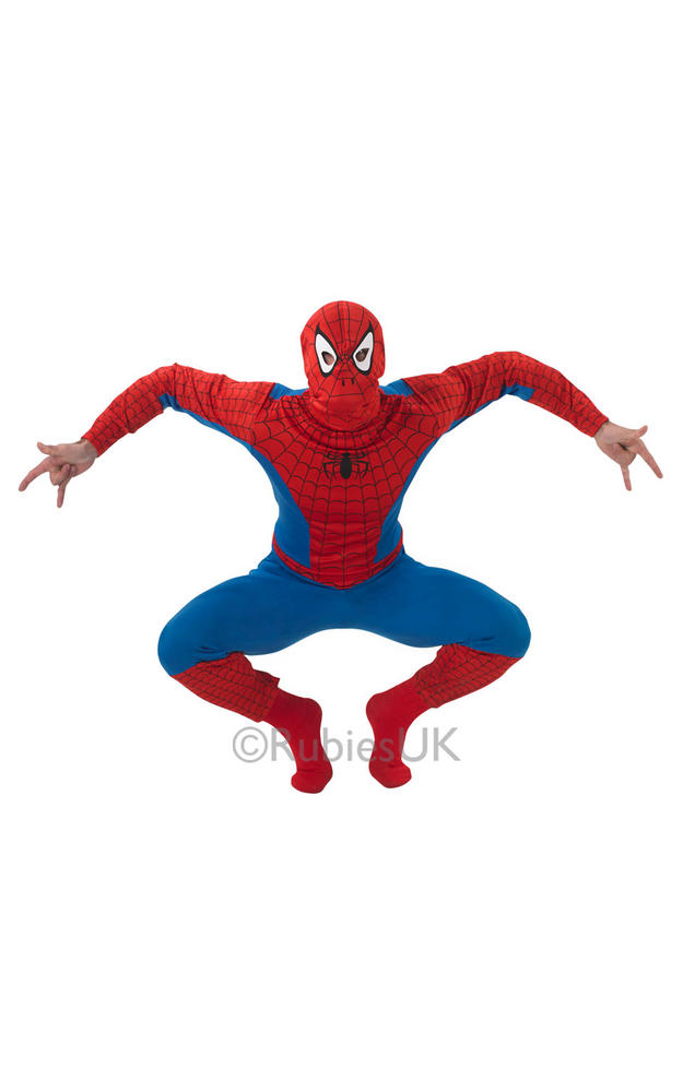 SALE! Adult Marvel Superhero Spider-Man Mens Fancy Dress Costume Party Outfit