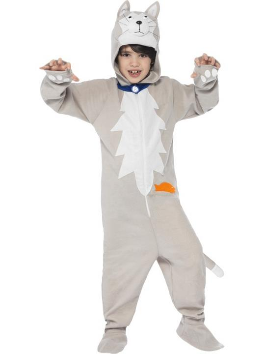 Kids Battersea Smudge The Cat Girls / Boys Book Week Fancy Dress Costume Outfit Thumbnail 1