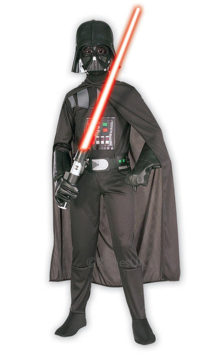 Kids Classic Darth Vader Fancy Dress Costume Thumbnail 1