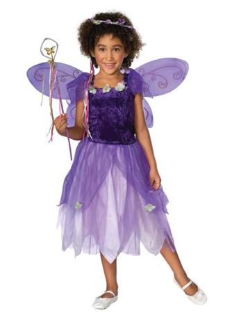 Kids Plum Pixie Fancy Dress Costume