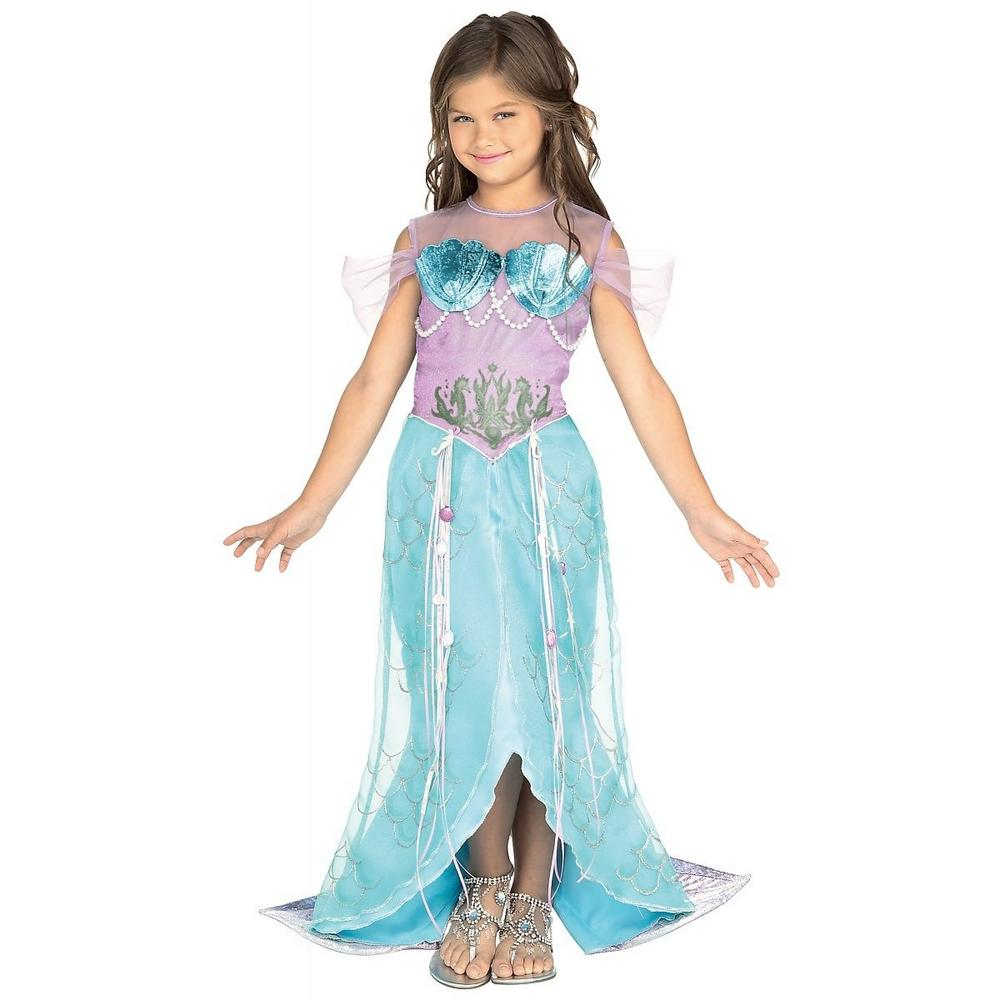 Girls Mermaid Pincess Fancy Dress Costume