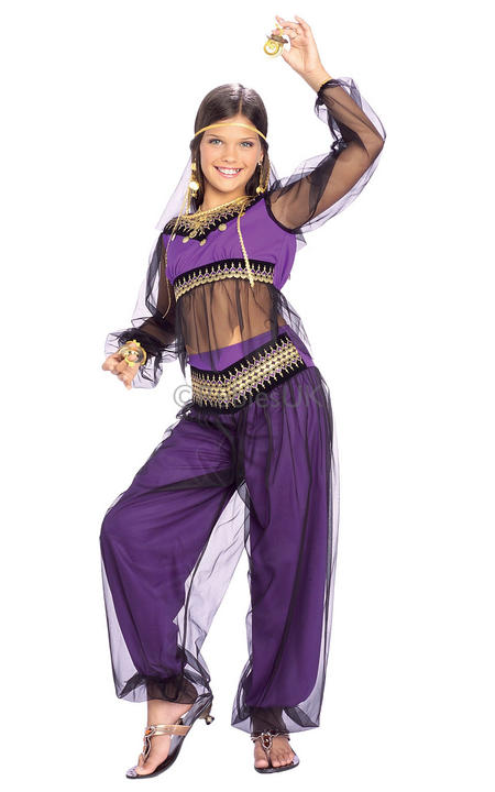 Girls Harem Princess Fancy Dress Costume Thumbnail 1