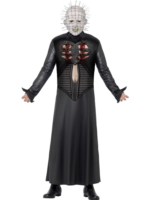 Adult Movie Licensed Hellraiser Pinhead Mens Halloween Party Fancy Dress Costume