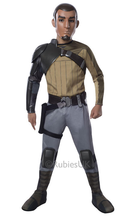 Childrens Disney Star Wars Rebels DELUXE KANAN Boys Fancy Dress Costume Outfit Thumbnail 1