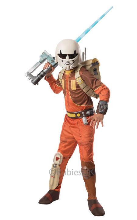 Child Licensed Disney Star Wars Rebels Deluxe EZRA Boys Fancy Dress Kids Costume Thumbnail 1