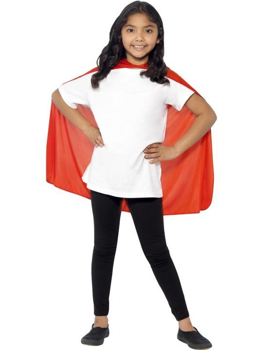 SALE! Child Red Cape Girls / Boys Fancy Dress Kids Party Costume Accessory Thumbnail 2