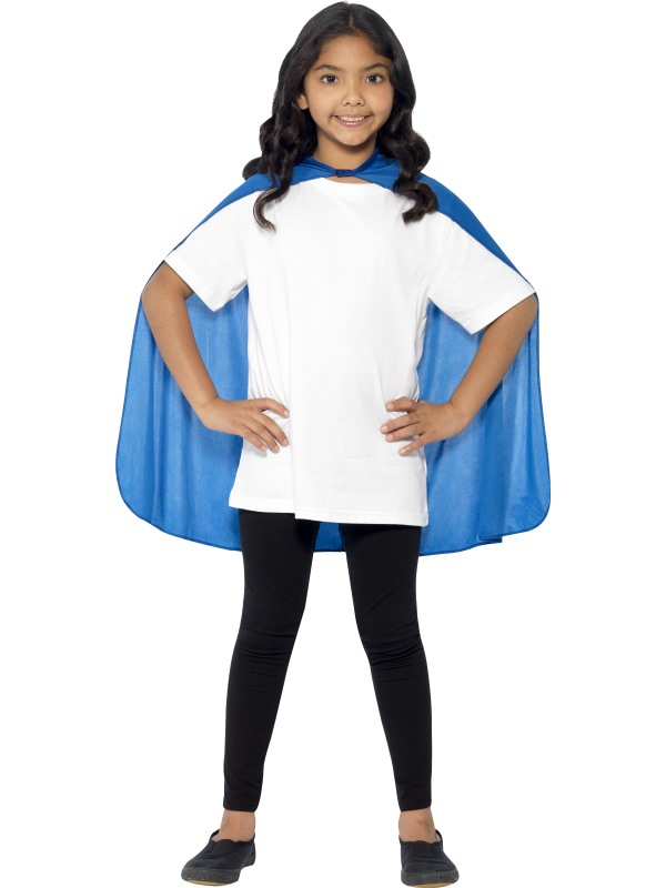 SALE! Child Blue Cape Girls / Boys Fancy Dress Kids Party Costume Accessory