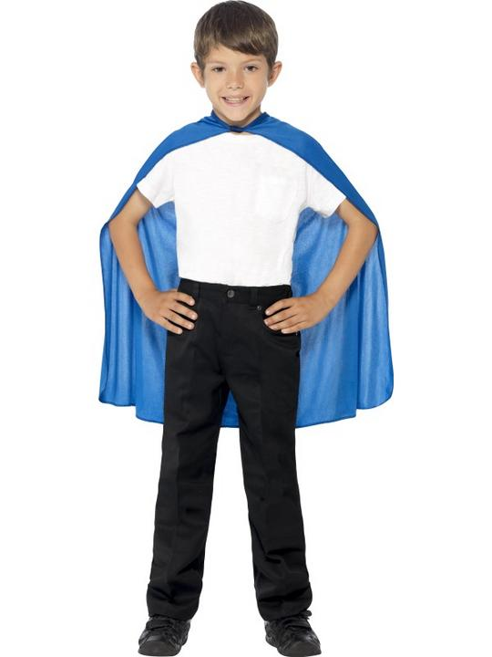 SALE! Child Blue Cape Girls / Boys Fancy Dress Kids Party Costume Accessory Thumbnail 2