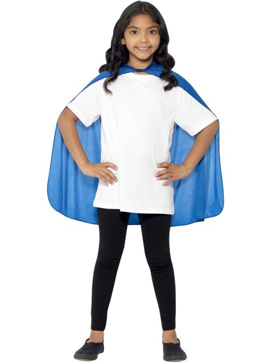 SALE! Child Blue Cape Girls / Boys Fancy Dress Kids Party Costume Accessory Thumbnail 1
