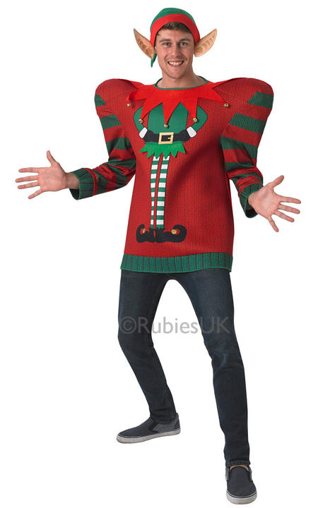 Adult ELF oversized Christmas jumper Thumbnail 1