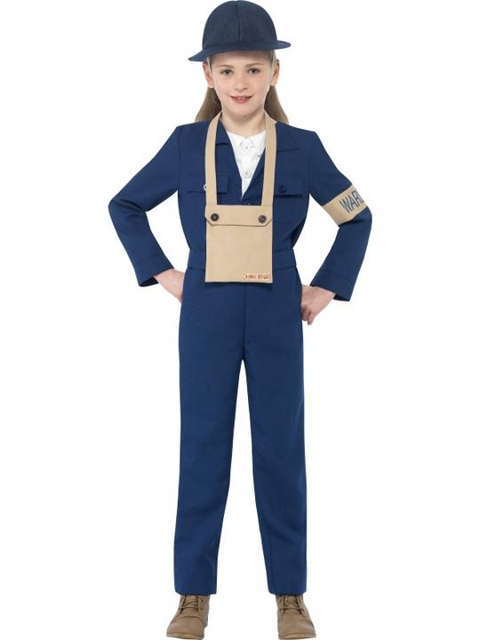 Child Horrible Histories World War Air Warden Book Week Fancy Dress Kids Costume Thumbnail 1