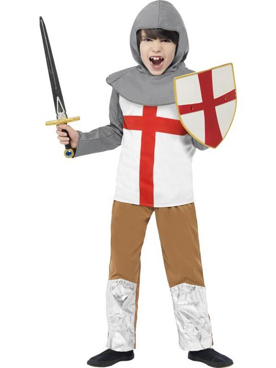 Child Horrible Histories Medieval Knight Boys Book Week Fancy Dress Kids Costume Thumbnail 1