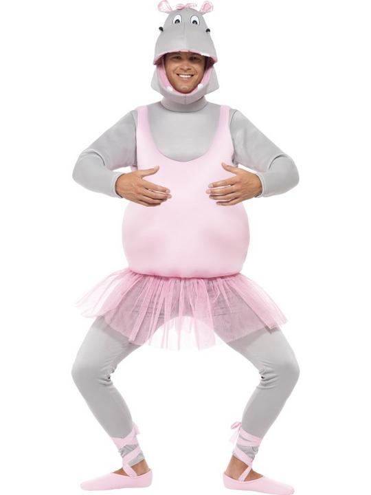 Adult Ballerina Hippo Costume Thumbnail 1