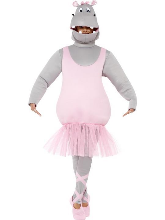 Adult Ballerina Hippo Costume Thumbnail 2