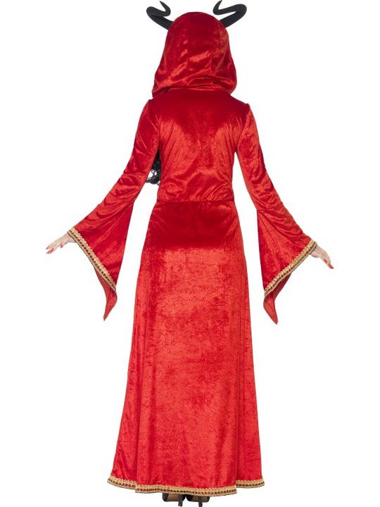 Adult Sexy Red Demonic Devil Queen Ladies Halloween Fancy Dress Costume Outfit Thumbnail 2