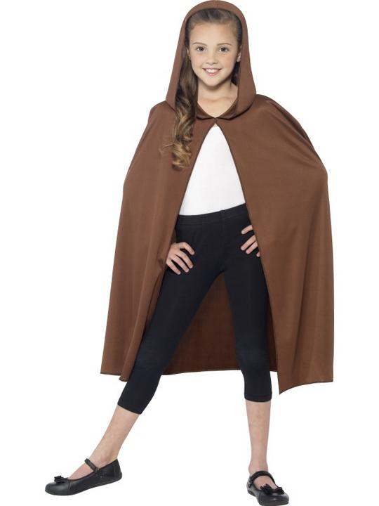 SALE! Child Brown Cape Girls / Boys Fancy Dress Kids Party Costume Accessory Thumbnail 2