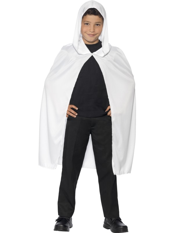 Childs White Hooded Cape