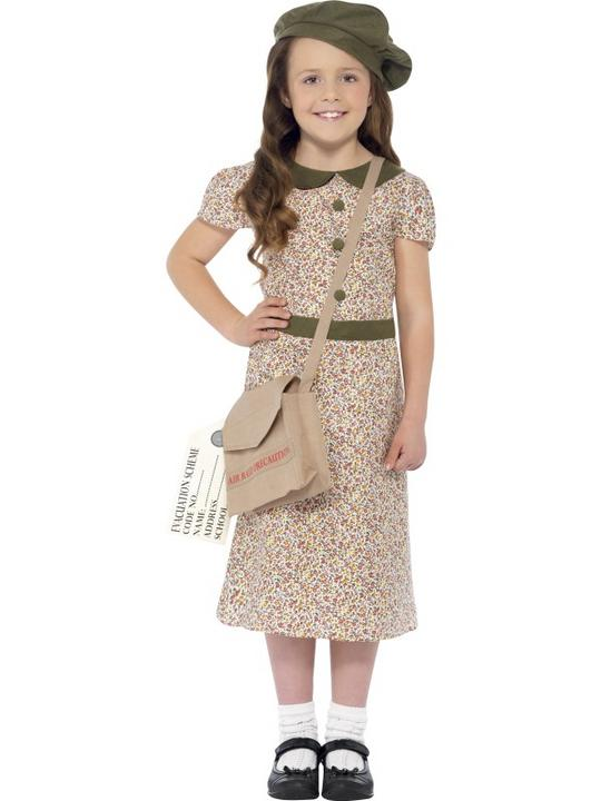 SALE! Child WW2 1940s World War Evacuee Girls Book Week Fancy Dress Kids Costume Thumbnail 1