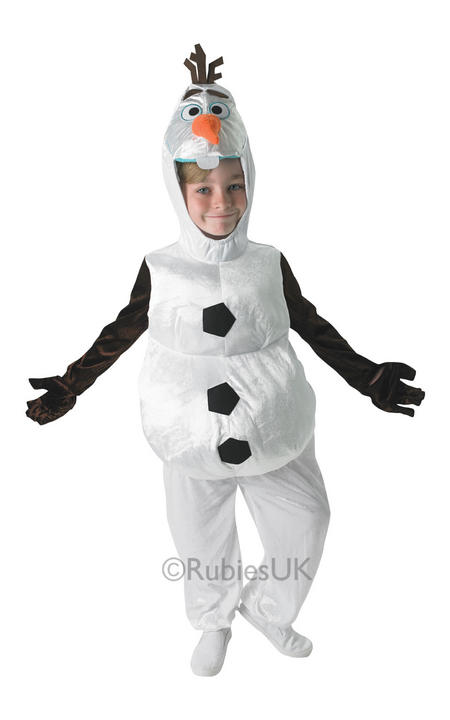 SALE! Child Disney Frozen Snowman Olaf Girls Boys Fancy Dress Kids Party Costume Thumbnail 1