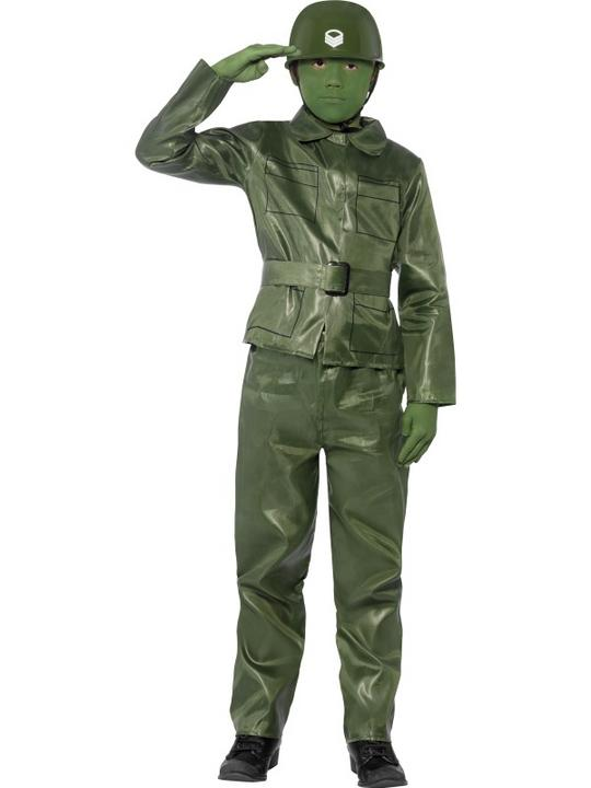 SALE! Child Green Army Toy Soldier Boys Fancy Dress Kids Party Costume Outfit Thumbnail 1
