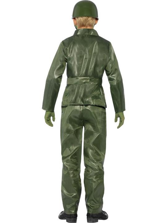 SALE! Child Green Army Toy Soldier Boys Fancy Dress Kids Party Costume Outfit Thumbnail 2