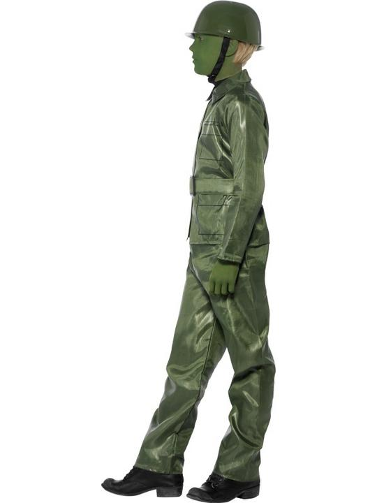 SALE! Child Green Army Toy Soldier Boys Fancy Dress Kids Party Costume Outfit Thumbnail 3