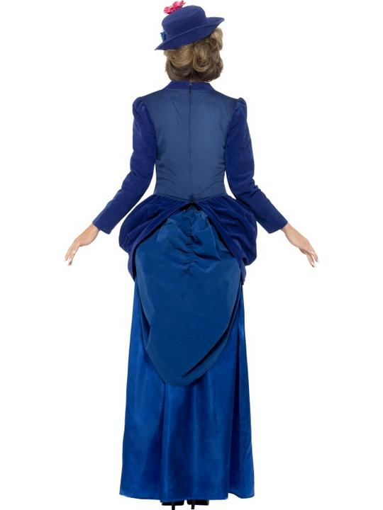 Adult Deluxe Posh Victorian Lady Ladies Book Week Fancy Dress Costume Outfit Thumbnail 2