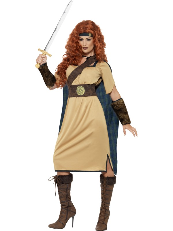 Adult Deluxe Medieval Viking Princess Warrior Queen Ladies Fancy Dress Costume