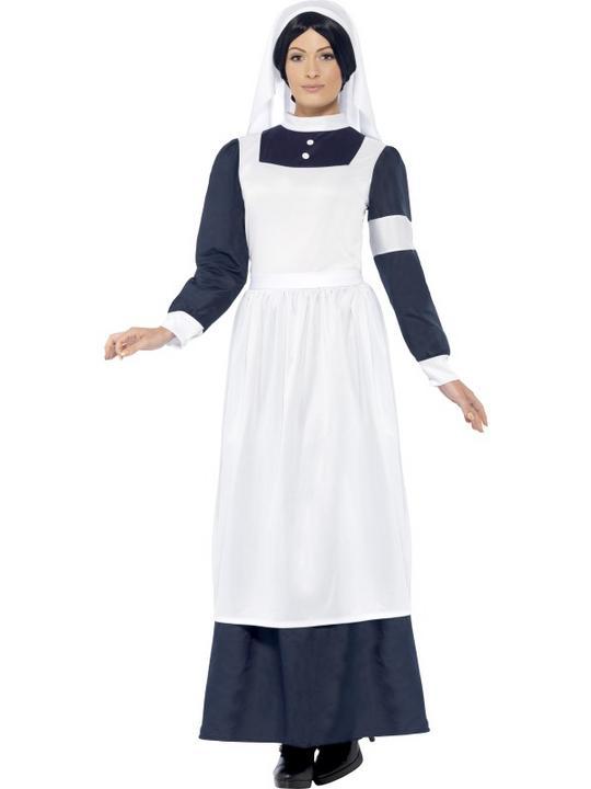 SALE! Adult WW1 World War Nurse Uniform Ladies Fancy Dress Costume Party Outfit Thumbnail 1