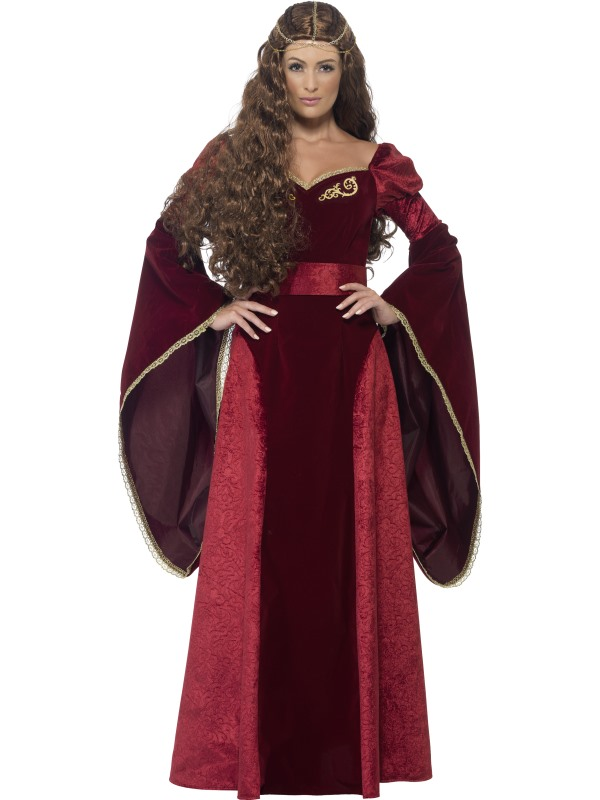 New! Adult Deluxe Medieval Royal Queen Ladies Fancy Dress Costume Party Outfit