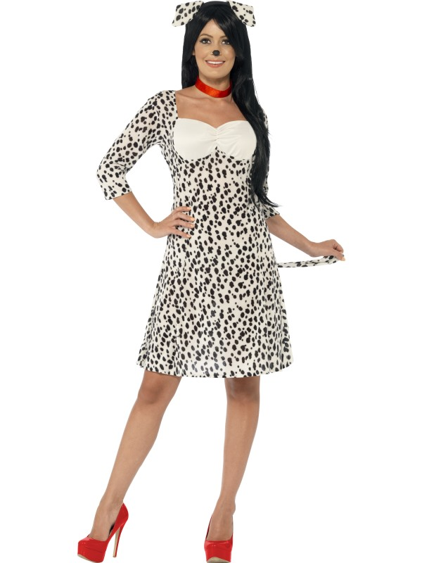 SALE! Adult Funny Animal Dalmatian Dog Ladies Fancy Dress Costume Party Outfit