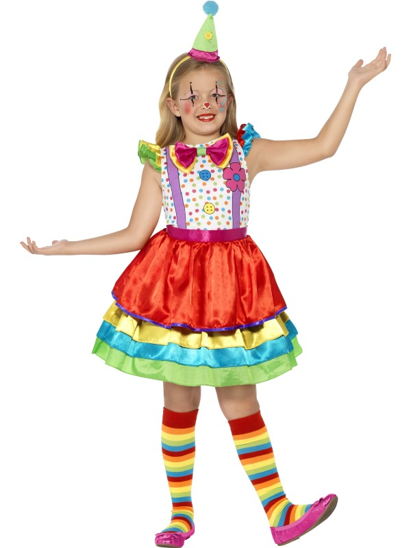 SALE! Childrens Funny Circus Clown Girls Fancy Dress Kids Costume Party Outfit
