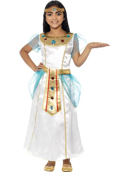 Child Deluxe Egyptian Queen Cleopatra Girls Book Week Fancy Dress Kids Costume Thumbnail 1
