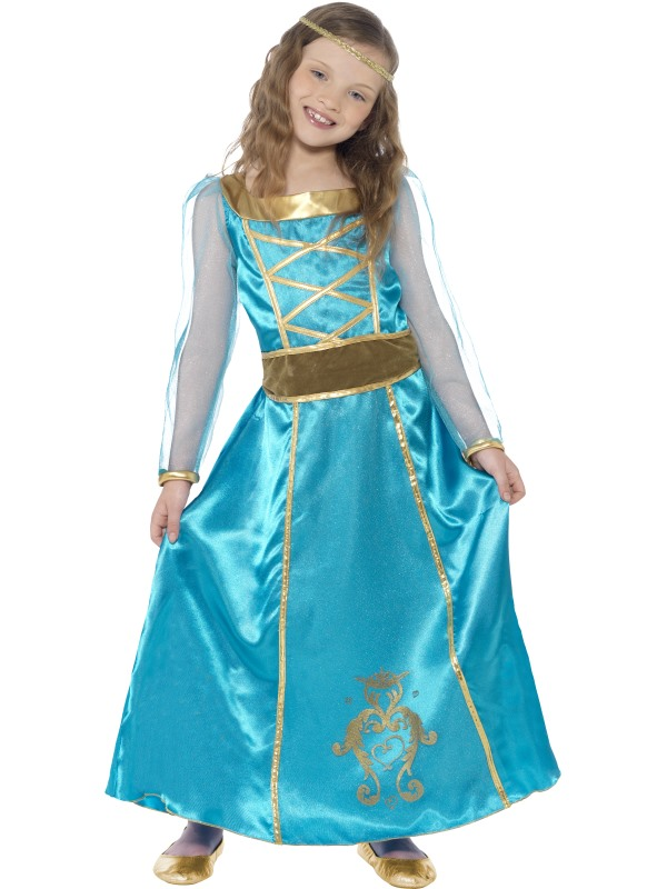 SALE Childrens Medieval Princess / Maid Girls Fancy Dress Book Week Kids Costume