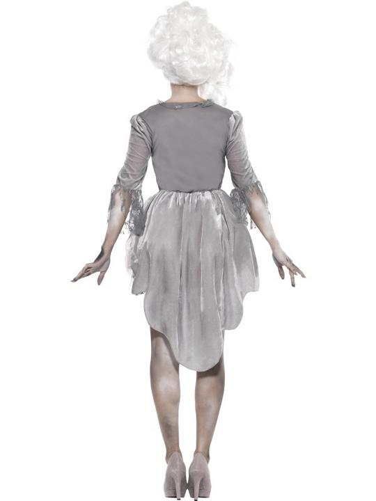 Adult Sexy Zombie Georgian Dress Ladies Halloween Fancy Dress Costume Outfit Thumbnail 2