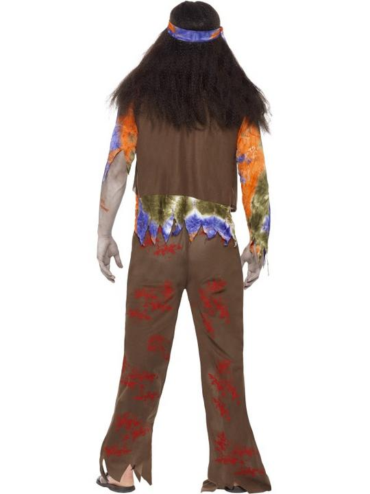 SALE Adult 60s 70s Zombie Hippie Mens Halloween Party Fancy Dress Costume Outfit Thumbnail 2