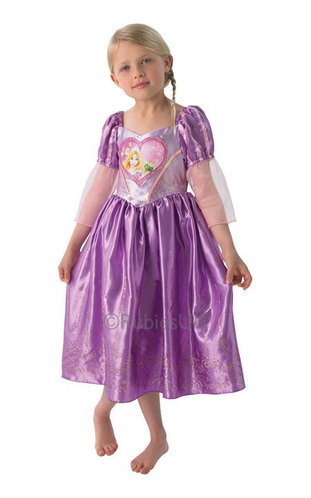Child Disney Princess Rapunzel Girls Book Week Fancy Dress Kids Costume Outfit Thumbnail 1