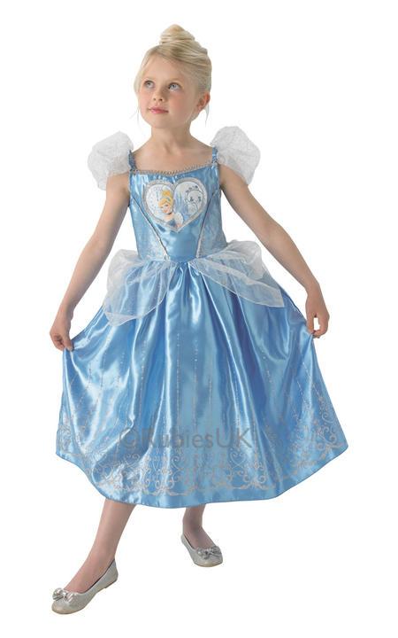 Child Disney Princess Cinderella Girls Book Week Fancy Dress Kids Costume Outfit Thumbnail 1
