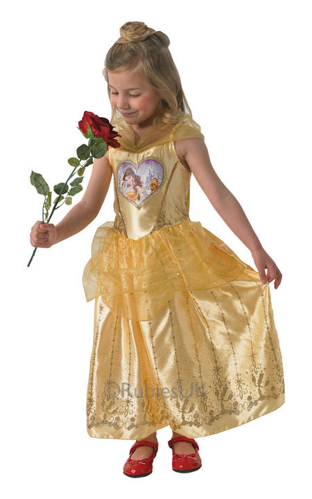 Child Disney Princess Loveheart Belle Girls Book Week Fancy Dress Kids Costume Thumbnail 1