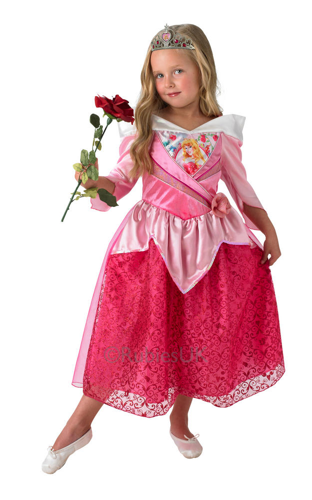 Child Disney Princess Sleeping Beauty Girls Book Week Fancy Dress Kids Costume